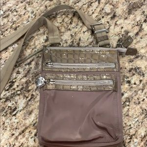 Brighton Crossbody bag with snake trim